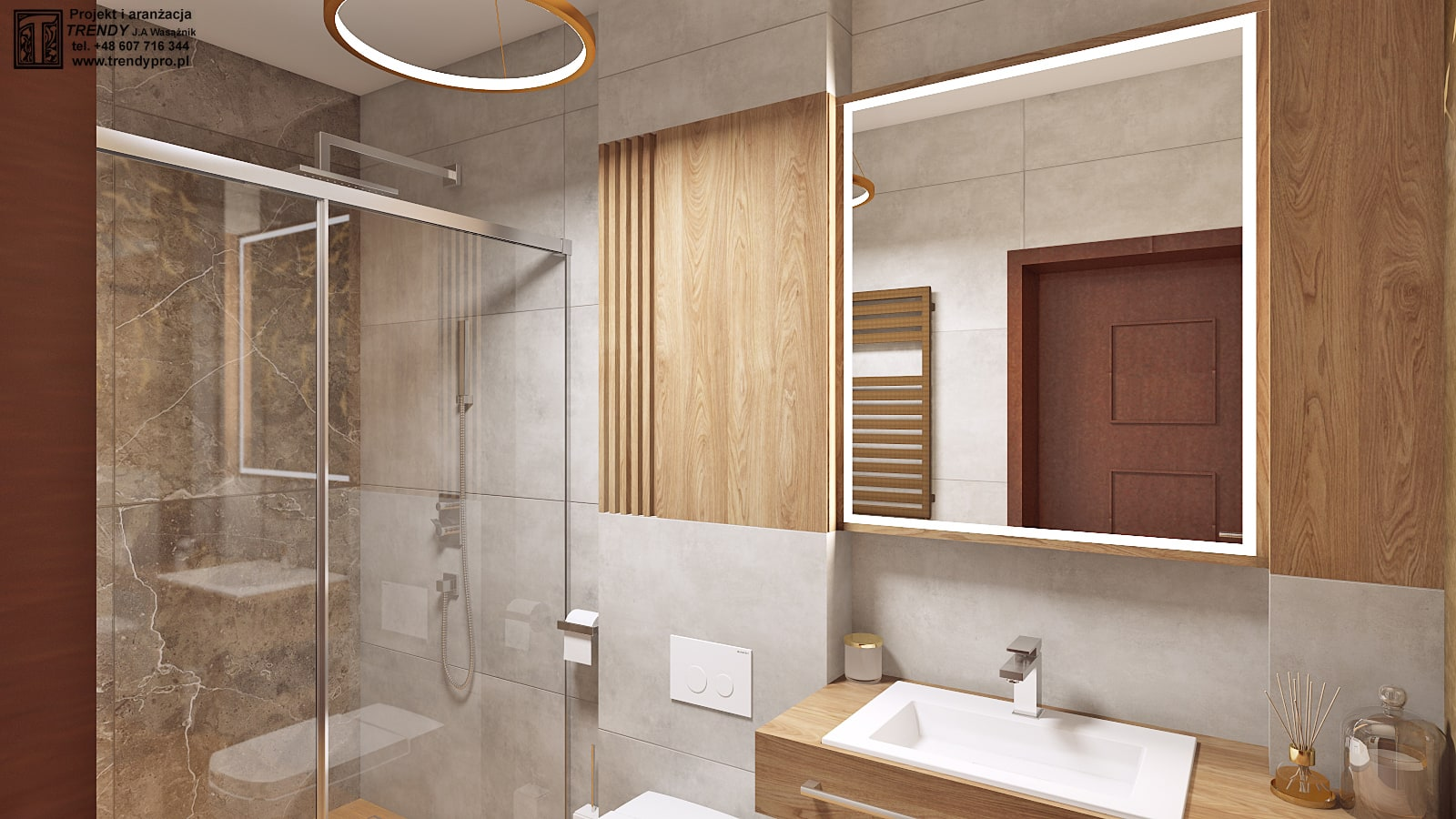 Mała łazienka Z Orientalnym Motywem Trendy Projekty Wnętrz